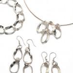 Moebius Pendant & Earring Set LG