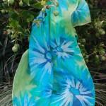 silk batik scarf turquoise 460px