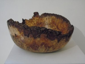 Natural Edge Burr Oak Bowl